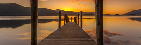 Sunset at Ashness Bridge on Derwentwater